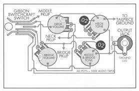 gibson les paul custom u2013 standard 3 pickup schematic electronics
