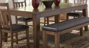 table kitchen table with bench and chairs surprising wood