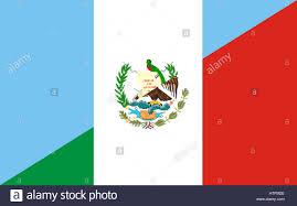 Mexican Flag Cartoon Guatemala Mexico Neighbor Countries Half Flag Symbol Stock Photo