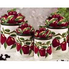 apple canisters for the kitchen this is a set of four ceramic apple canisters that will be the
