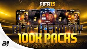 fifa 15 amazon black friday black friday 100k packs fifa 15 ultimate team pack opening