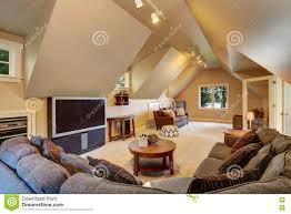 upstairs living room interior of luxury house stock photo image