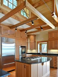Kitchens With Track Lighting by Exposed Rafter Track Lighting Houzz