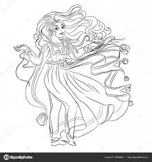 fashion romantic little in fantasy dress coloring book