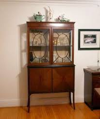corner china cabinet great idea for window area near table pair