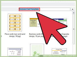 how to make business cards on word 2007 business card template for