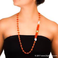 long orange necklace images Clear quartz harmony orange styleaura jpg