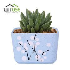 wituse flower pot ceramic square small indoor flowers plants pots