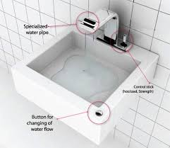 reversible sink faucet functions as a water fountain