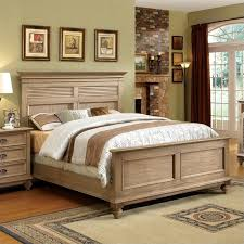 Driftwood Bedroom Furniture Riverside Furniture Coventry Shutter Panel Bed In Driftwood
