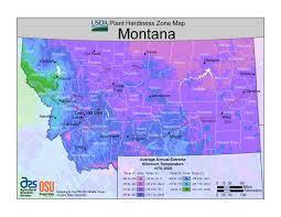 Montana Map by Usda Hardiness Zone Maps