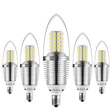bogao 5 pack led candelabra bulb 9w daylight led candle bulbs