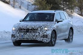 lexus hybrid in snow vw touareg 2018 the first spy shots in the snow