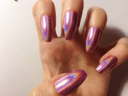 holographic coffin false nails 12 color options set of 20