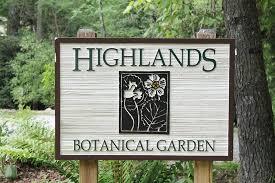 Botanical Gardens Highland Park Sign Picture Of Highlands Biological Station Nature Center And
