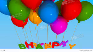 balloon happy birthday stock animation 511641