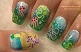 sponge bob square pants inspired nail art tutorial arte para las