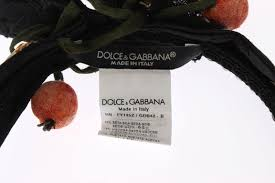 fruit headband absolutely stunning dolce gabbana black silk brocade bow