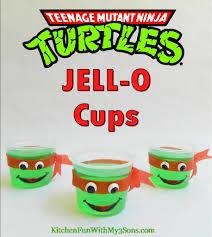 teenage mutant ninja turtle jell o cups kitchen fun with my 3 sons