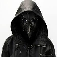leather plague doctor mask 2018 black plague doctor mask birds nose beak pu leather