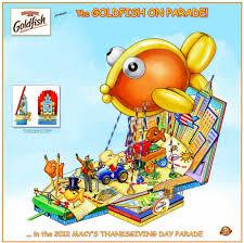 pepperidge farm unveils goldfish on parade float for macy s