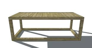 Woodworking Plans Coffee Tables by Free Woodworking Plans To Build A 2x2 Collection Coffee Table