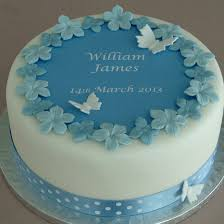 christening cake ideas personalised boys christening cake decorating kit by clever