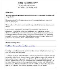 it risk assessment template 10 free word pdf documents