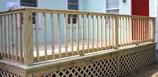 Banister Height Building Handrails For A Wooden Deck Today U0027s Homeowner
