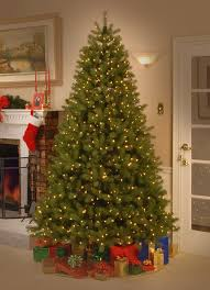artificial trees with led lights fir 9 hinged green