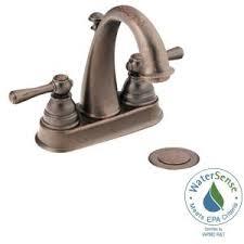 Bronze Sink Faucet Moen Kingsley 4 In Centerset 2 Handle High Arc Bathroom Faucet In
