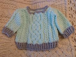 baby sweaters aran braided cable crochet baby sweater pattern for boys and