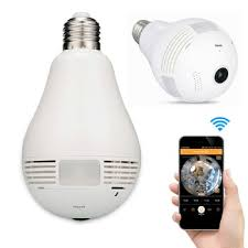 light bulb security system 360 degree fisheye home security system p2p network ip wifi wireless