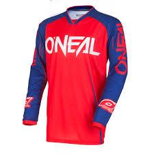 oneal motocross jersey o u0027neal jersey mayhem blocker lite red blue 2018 maciag offroad