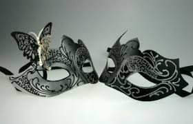 masquerade masks for couples couples black and silver masquerade masks hades and persephone