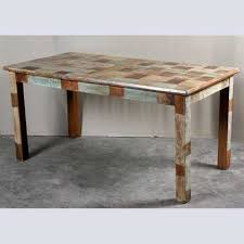 indian wood dining table reclaimed dining table with patchwork top jugs furniture