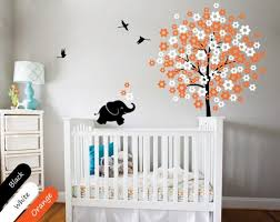 Tree Decal For Nursery Wall Wall Tree Decal Baby Nursery Modern Elephant Decoration Sticker