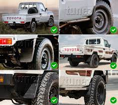 land cruiser 70 pickup front rear mud flap splash guard toyota landcruiser j79 70 pickup
