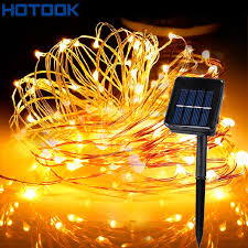 solar powered string lights aliexpress buy hotook solar powered string lights 5m 10m 15m