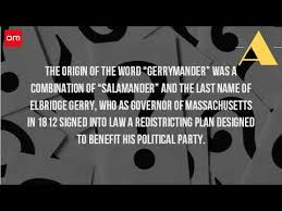 what is the origin of the term gerrymandering
