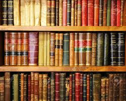 library shelf of old books bookstore stock photo picture and