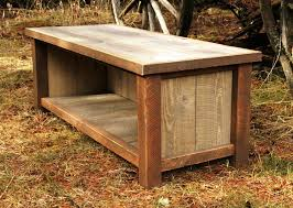 Wood Bench With Storage Plans by Reclaimed Wood Storage Bench Plans Reclaimed Wood Storage Bench