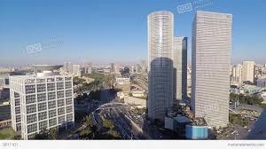 tel aviv israel central tel aviv time lapse day to night stock
