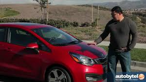 2013 kia rio sedan test drive u0026 compact car video review youtube