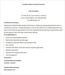 Medical Resume Sample Resume Examples For Medical Assistant Medical Assistant Resume