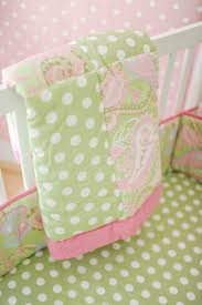 Pink And Green Crib Bedding Pink And Green Baby Bedding Green Nursery Design Ideas