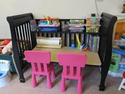 best 25 crib desk ideas on pinterest repurposing crib crib