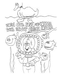 fish enjoy clean water education coloring pages conservation