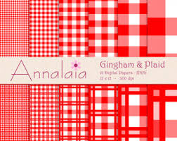 gingham wrapping paper gingham paper etsy