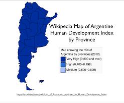 Map Argentina Argentina U0027s Hdi The Wikipedia U0027s Worst Map Geocurrents